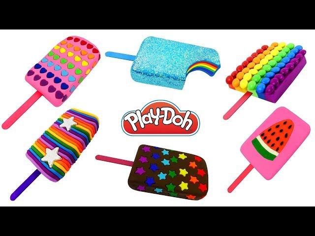 DIY Making Play Doh Ice Cream Popsicles