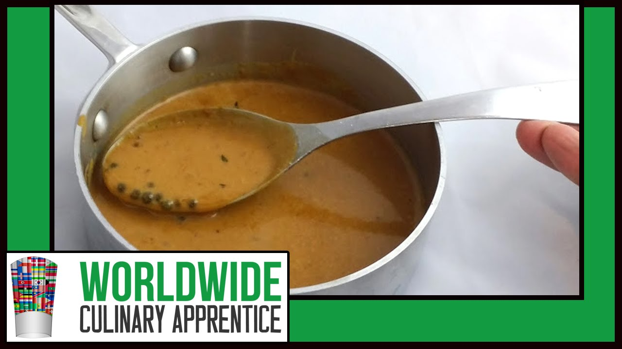 How To Make A Green Peppercorn Sauce Sauce Aux Poivre Vert Online Cooking Cl Youtube
