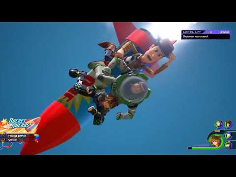 Kingdom Hearts 3 Woody and Buzz Limit Rocket Ruckus
