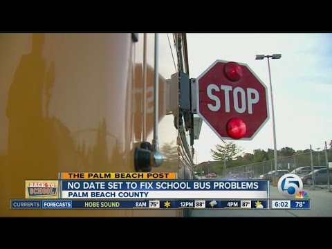 No date set to fix Palm Beach County school bus problems