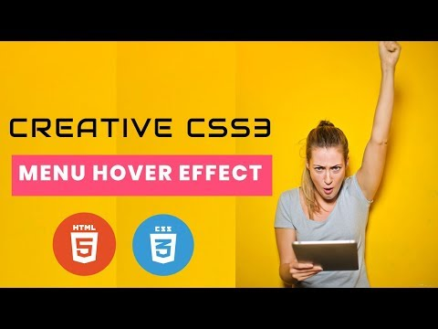CSS Creative Menu Hover Animation effect | CSS Menu Hover Effect | Cool css effects