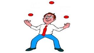 Жонглирование 3 мячами ч 2