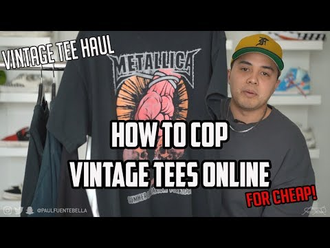 How To Cop Vintage FOR CHEAP! And Tee HAUL