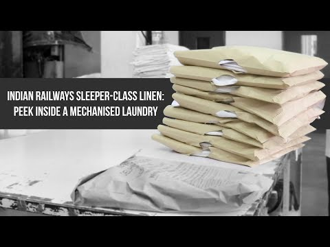 Indian Railways Sleeper-Class Linen: Peek Inside A Mechanised Laundry