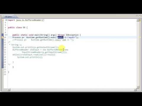 Java Run operating system commands
