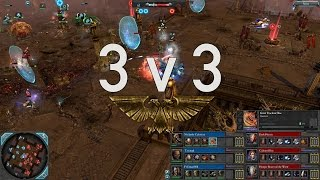 Dawn of War 2 - 3v3 | Nurland + Triumph + Fr33man [vs] Dark Heretic + Cultured Boy + SuperHooper