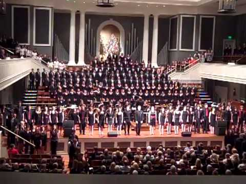 Belmont University President's Concert 2013 - Come, Thou Fount of Every Blessing arr. Mack Wilberg