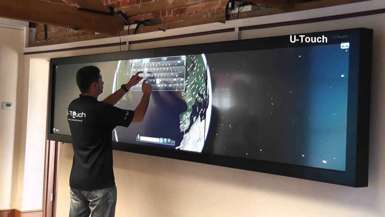 UTouch 1x3 Sharp Multi Touch 160 Video Wall  YouTube