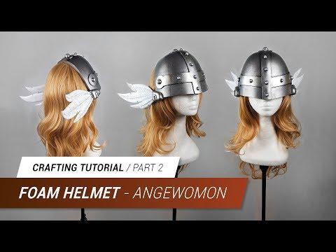 Crafting Tutorial - Angewomon Foam Helmet (Part2) | Jak Cosplay