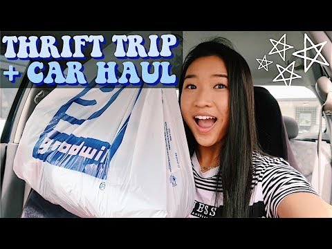 THRIFT TRIP + CAR HAUL | spontaneous thrift w/ me!!