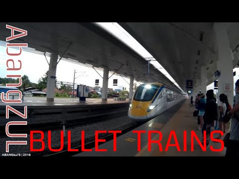 MALAYSIAN BULLET TRAIN - KTMB CLASS 93 ETS (GOLD) FROM BUKIT MERTAJAM TO IPOH