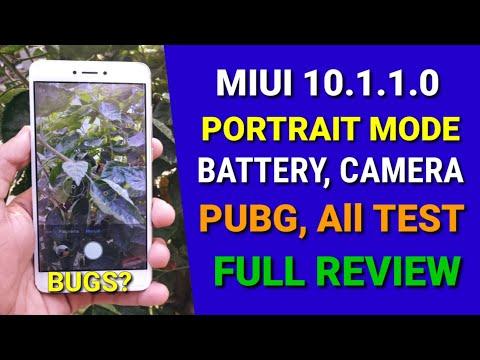 Redmi Note 4 miui 10 1 1 0 Stable Update   Camera Portrait mode   Battery  test, PubG test, all test