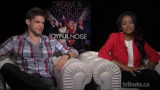 Jeremy Jordan & Keke Palmer - Joyful Noise Interview with Tribute