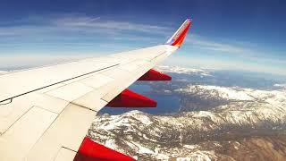 Southwest Airline  takeoff at Reno Internationa Airport
