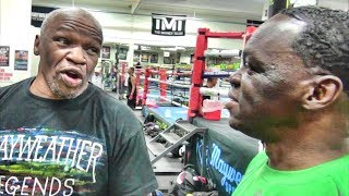Jeff Mayweather makes fun of Floyd Mayweather for clamming up during his Hall of Fame speech