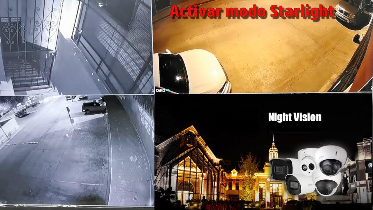 Cómo activar Starlight en cámara Dahua y ver a color de noche? » Weby Servicios