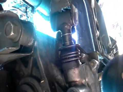 shift linkage pin removal - youtube
