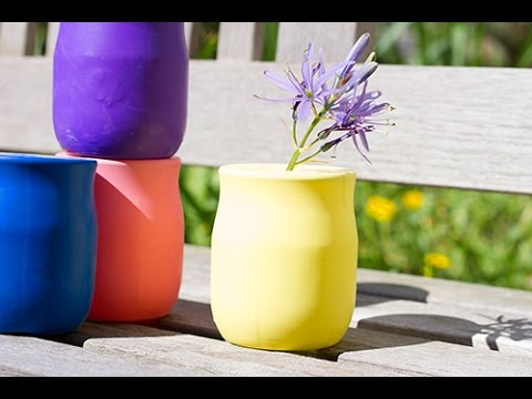 bricolage diy d co r cup un vase express avec un ballon youtube. Black Bedroom Furniture Sets. Home Design Ideas