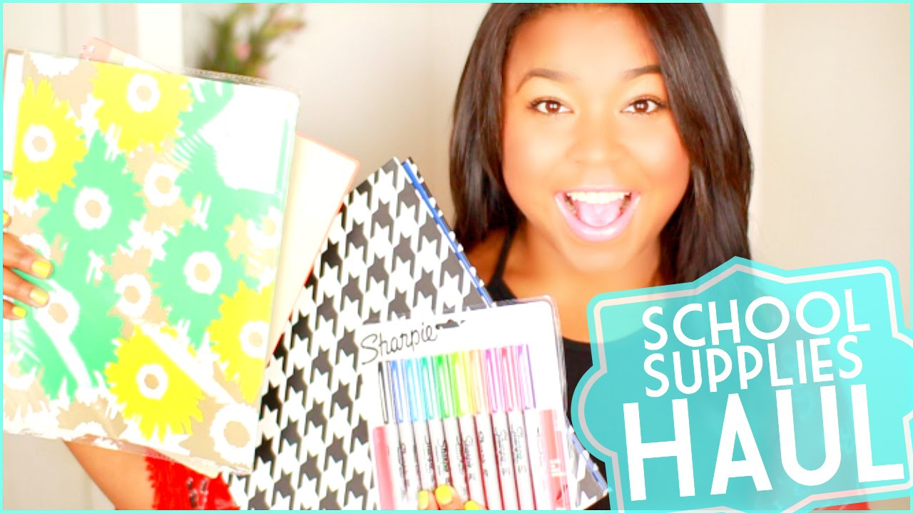 Back To School Supplies Haul 2014 Cute Affordable Youtube