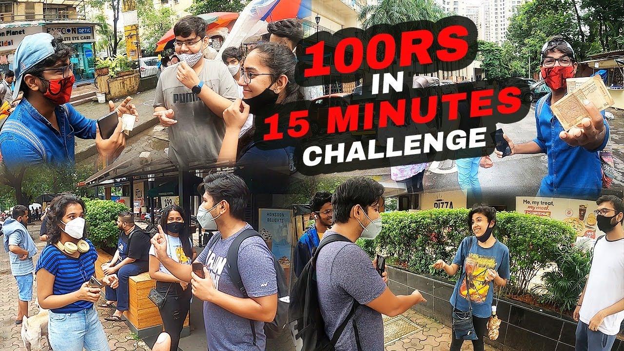 100 Rs In 15 Minutes Challenge | Funk You | Pramod Rawat | Nirbhay Singh