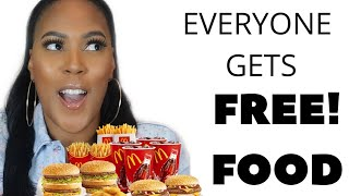 HURRY! FREE FOOD FOR EVERYONE!