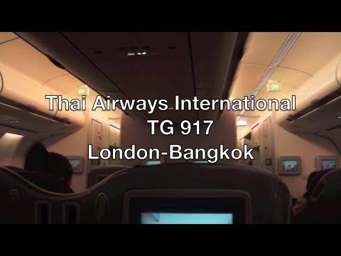 (HD) Thai Airways International Airbus A340 Business Class Flight Report: TG 917 London to Bangkok