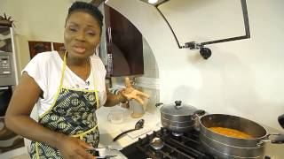 "Chef Matse Prepares ""ewhobobo & Groundnut Soup"" In Chefrican On Ebonylifetv"