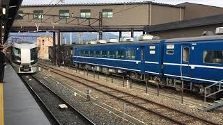 【りばてぃ】東武500系 特急 リバティけごん・リバティきぬ@下今市駅 先に入線したリバティけごんと、後から入線したリバティきぬが連結。後ろにはSL大樹がいます!