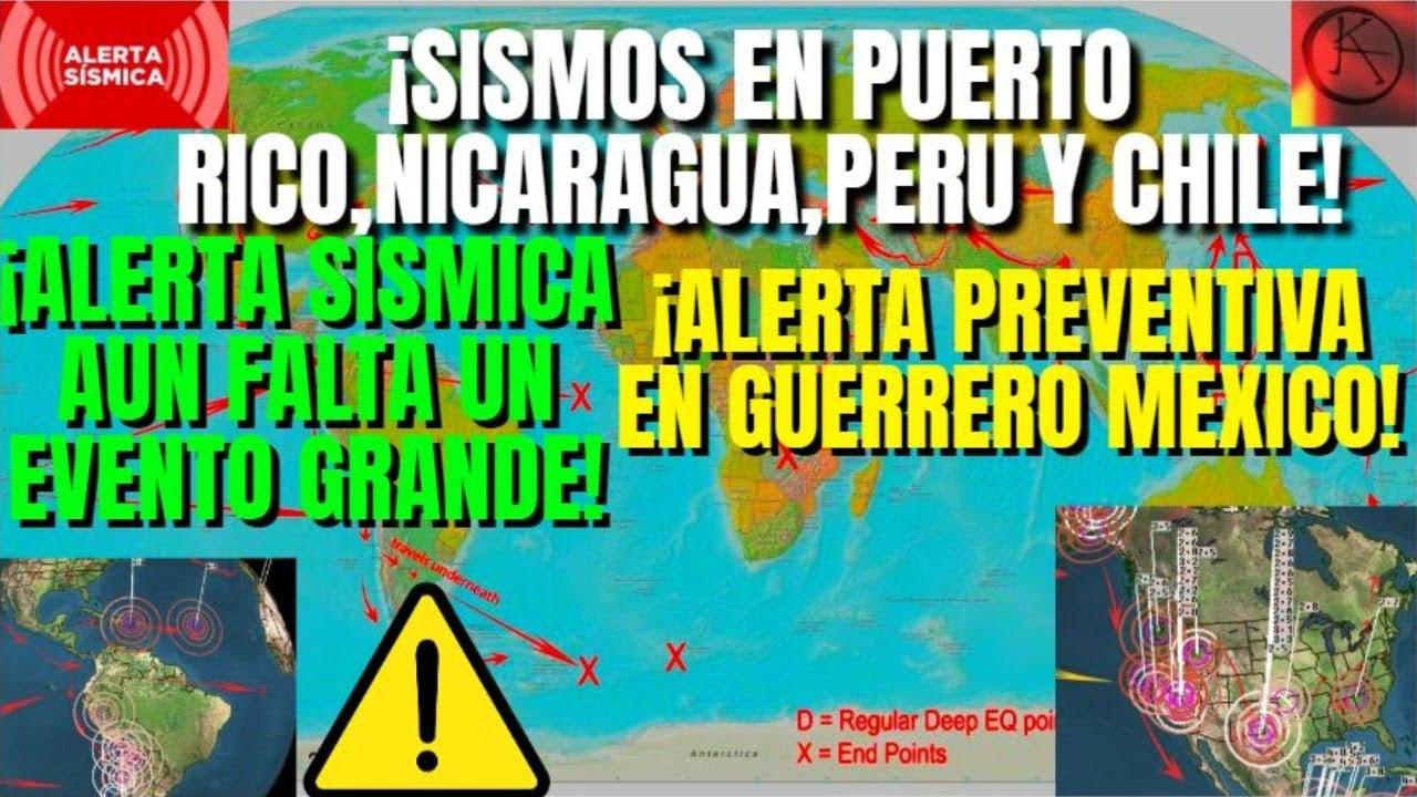 ¡URGENTE SISMOS EN PUERTO RICO Y SUDAMÉRICA AUN FALTA UN TERREMOTO!¡ALERTA MAS SISMOS PARA MÉXICO!