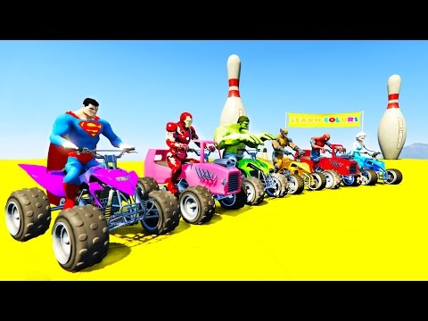Thumbnail: LEARN COLOR ATV Cars in Spiderman Cartoon for kids and Fun songs for children