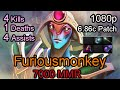 Furiousmonkey Oracle 6.86 patch 7000 MMR Ranked Full Game