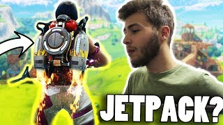 FORTNITE JETPACK GAMEPLAY FAKE OR REAL? ( Fortnite Battle Royale Jetpack Update )