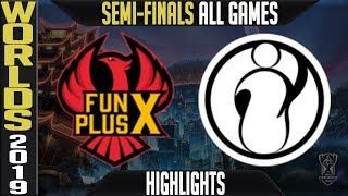 FPX vs IG Highlights ALL GAMES | Worlds 2019 Semi-finals | FunPlus Phoenix vs Invictus Gaming