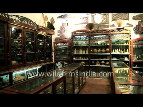 Art and antiquities collection at a historical mansion in Sri Lanka