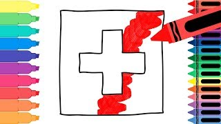 How to Draw Switzerland Flag - Drawing the Swiss Flag - Coloring Pages for kids | Tanimated Toys