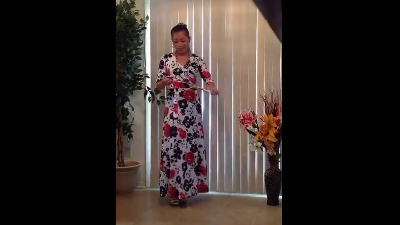 80d12cacd61 Zattcas Women s 3 4 Sleeve Faux Wrap Long Maxi Dress with Belt - YouTube