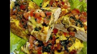 Восхитительное блюдо украшение любого праздника ! Сочное филе курицы с грибами по особому рецепту !