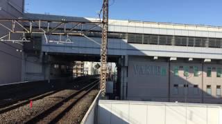 南越谷駅にて 早春成田初詣号到着シーン