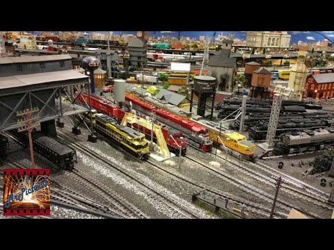 Large O Gauge Model Railroad at Corner Field Model Railroad Museum and Hobby Shop