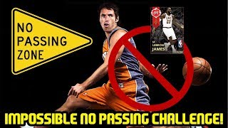 IMPOSSIBLE NO PASSING CHALLENGE! LEBRON HAS TO CARRY! NBA 2K18 MYTEAM GAMEPLAY