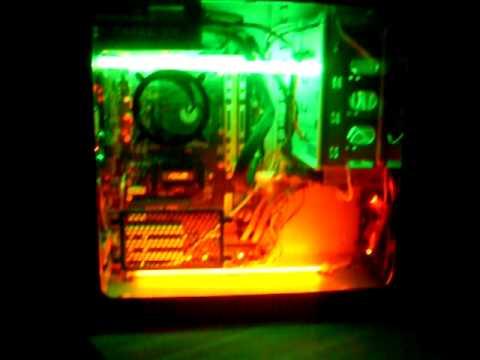 Cold cathode light installation: in desk pc lights youtube.