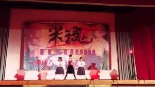 文化祭の有志です。 当然本家には敵いませんが楽しく踊りました。 男1人...