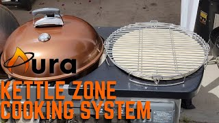"""Aura Kettle Zone Cooking System/Spareribs/Weber Performer Deluxe/Turn Your 22"""" Kettle into a Smoker/ screenshot 4"""