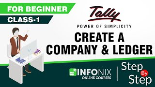Class-1 | Create Company and Ledger | Tally ERP 9 | Hindi