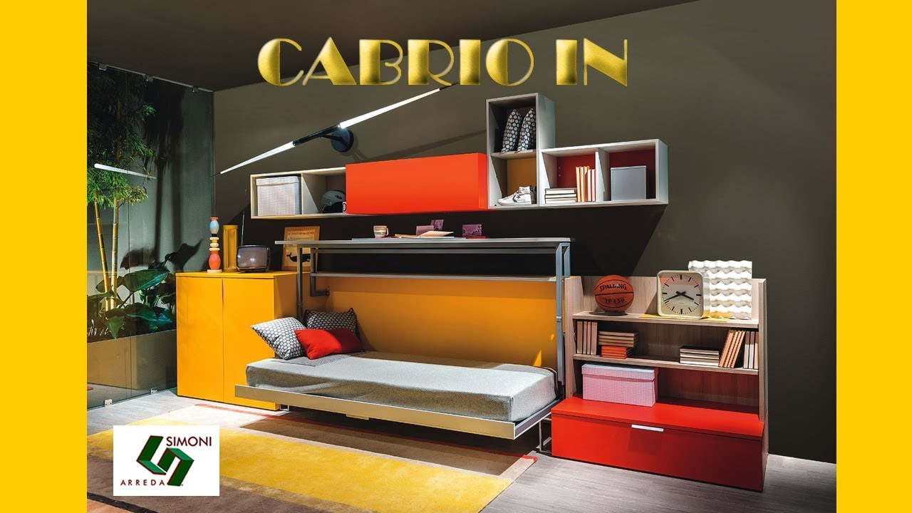 Clei Milano | Letto a Scomparsa con scrivania Cabrio In - YouTube