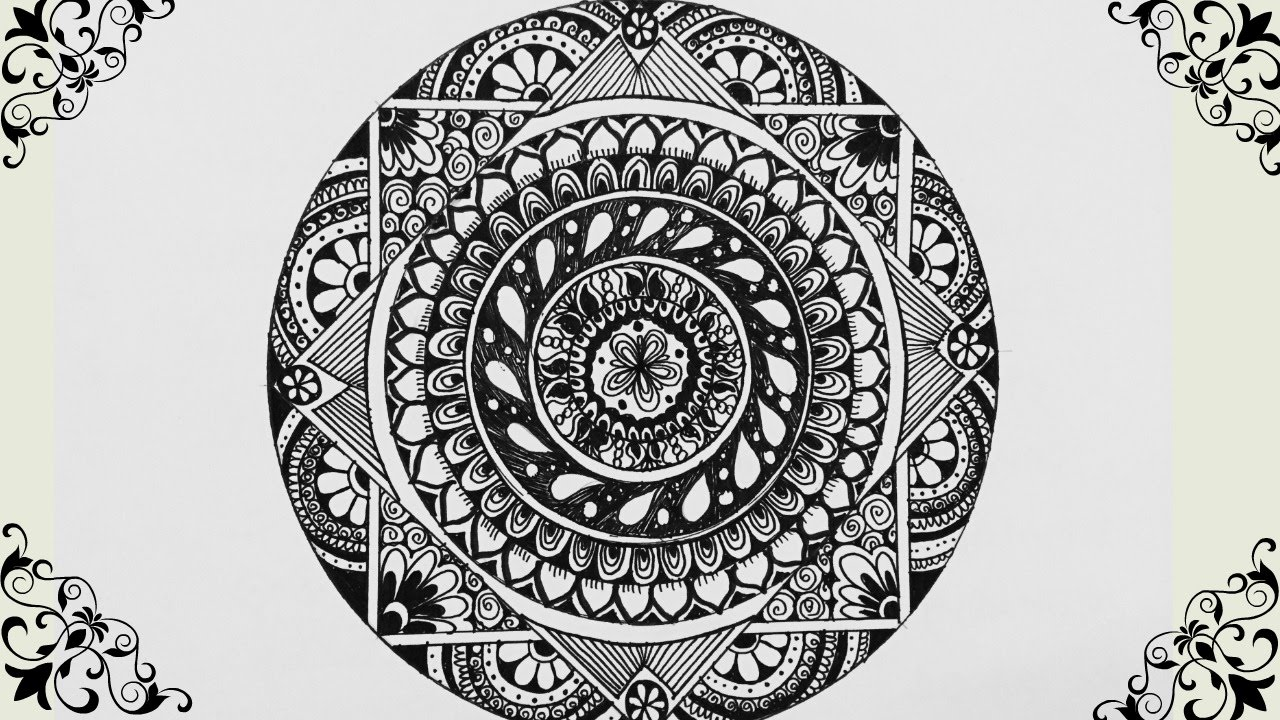 How to Draw : Mandala - YouTube