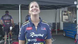 Caroline Olsen funny interview bloopers