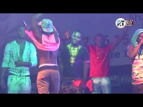 Yaa Pono killing the freestyle at Labadi Beach  Pre republic Rave 2015