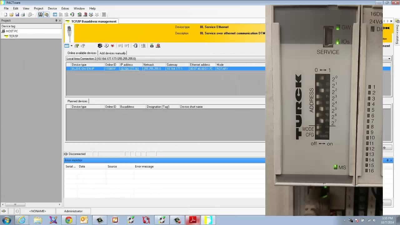 RSlogix 5000 adding Turck BL20 Over Ethernet