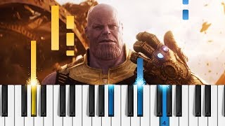 Marvel's Avengers: Infinity War - Official Trailer - Piano Tutorial / Piano Cover